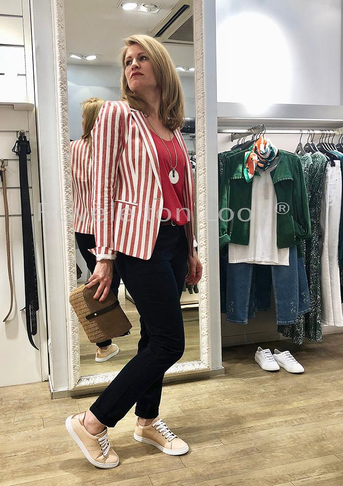 Look caroll veste rayure rouge re ve letonlook