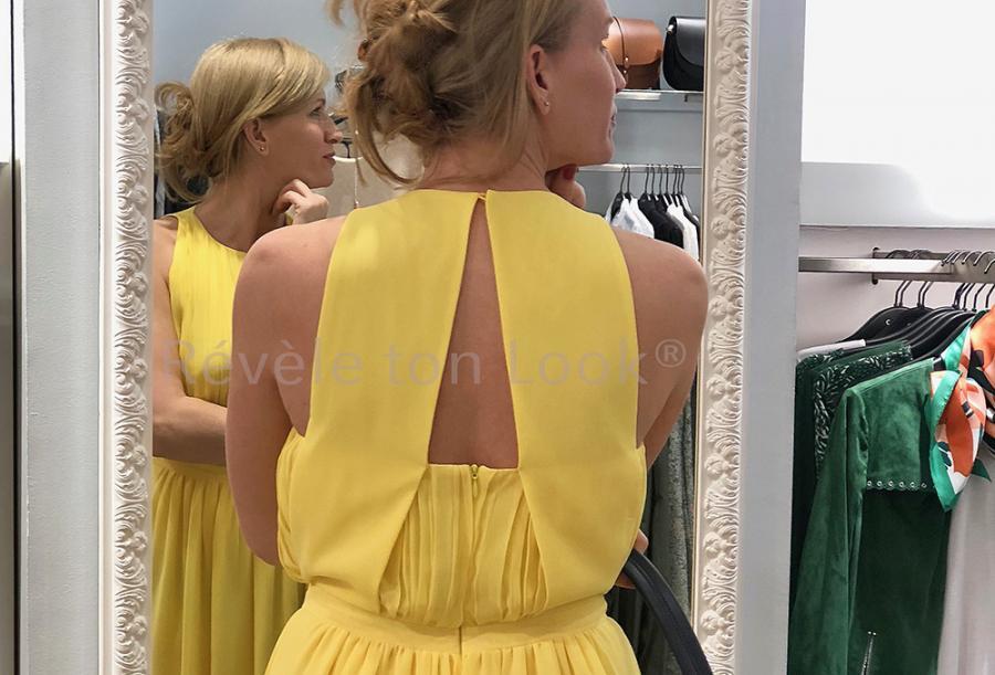 Re ve le ton look robe jaune caroll